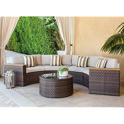 Awe Inspiring Round Patio Furniture Amazon Com Download Free Architecture Designs Photstoregrimeyleaguecom