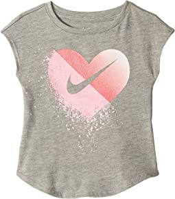 Glitter Heart Modern Short Sleeve Tee (Toddler)