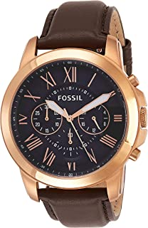 Fossil Casual Chronograph Black Dial Brown Leather Watch for Men - FS5068