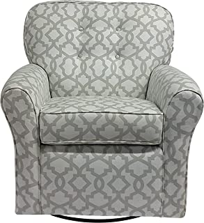 The 1st Chair Lindsay Swivel Glider in Dove Scroll