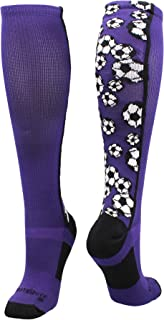 MadSportsStuff Crazy Soccer Socks with Soccer Balls Over...