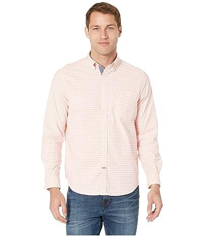 Nautica Oxford Gingham Long Sleeve Shirt (Coral Sands) Men