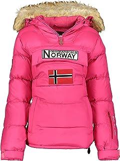 Geographical Norway BELANCOLIE Lady - Parka de Mujer cálida - Abrigo Capucha de Piel sintética - Chaqueta Invierno Acolcha...