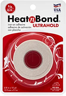 HeatnBond UltraHold Iron-On Adhesive, 5/8 Inch x 10 Yards