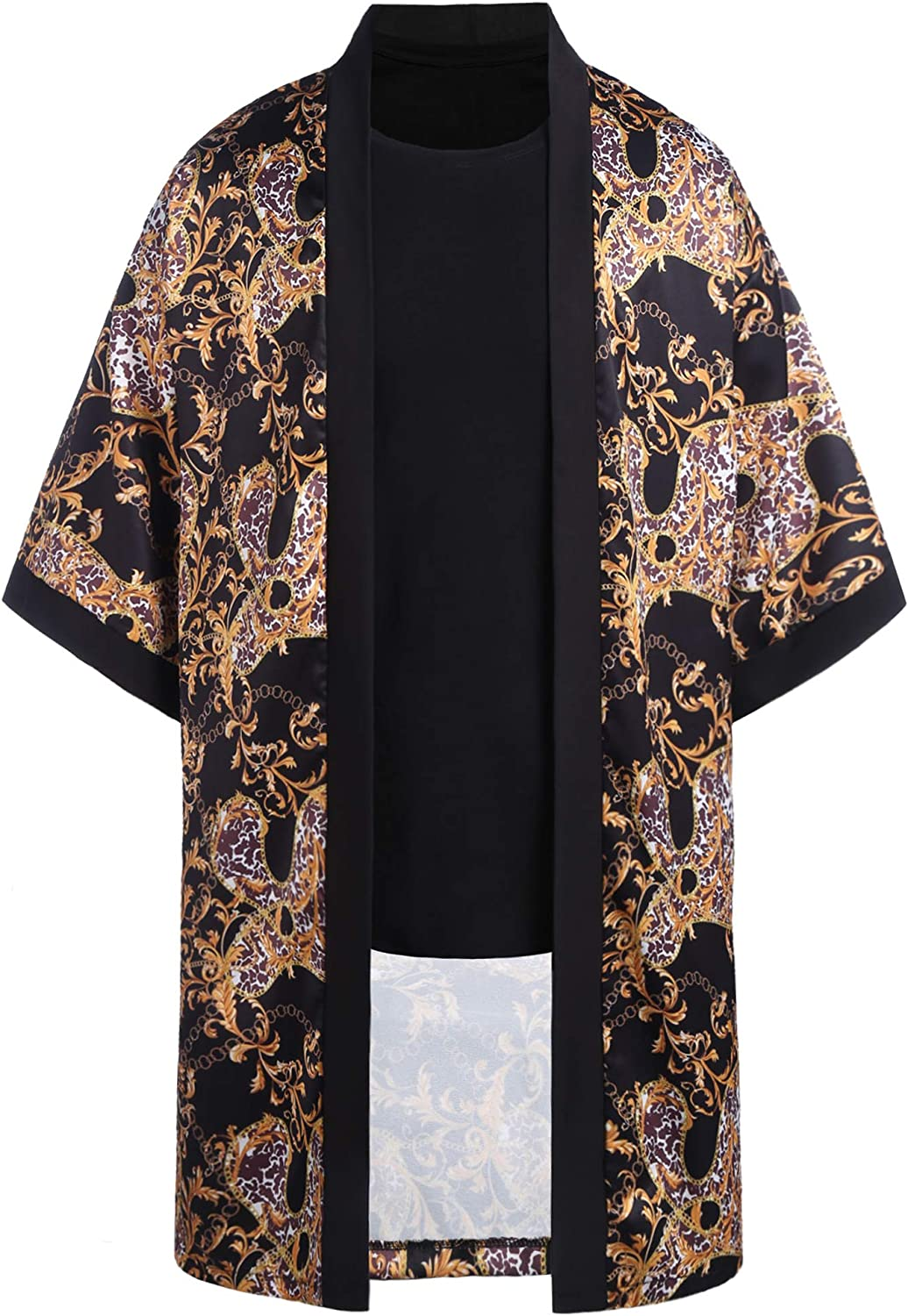 Max 65% OFF Men's Our shop most popular Luxury Design Print Cardigan Casual S Short Shawl