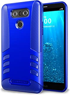 Hyperion Titan Series LG G6 Case with Active Shock Absorption and Carbon Fiber Design for LG G6 (2017) (Blue)