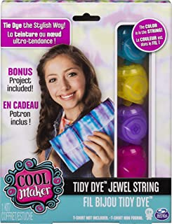 Cool Maker - Tidy Dye Jewel String Kit for Fabric Dying