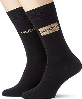 HUGO, 2P Giftset Lurex CC Calcetines de vestir, Negro1, 40-46 para Hombre