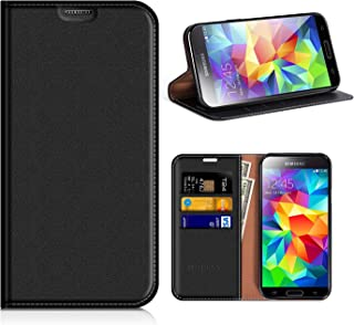 eb2caadae53 MOBESV Funda Cartera Samsung Galaxy S5, Funda Cuero Movil Samsung S5  Carcasa Case con Billetera