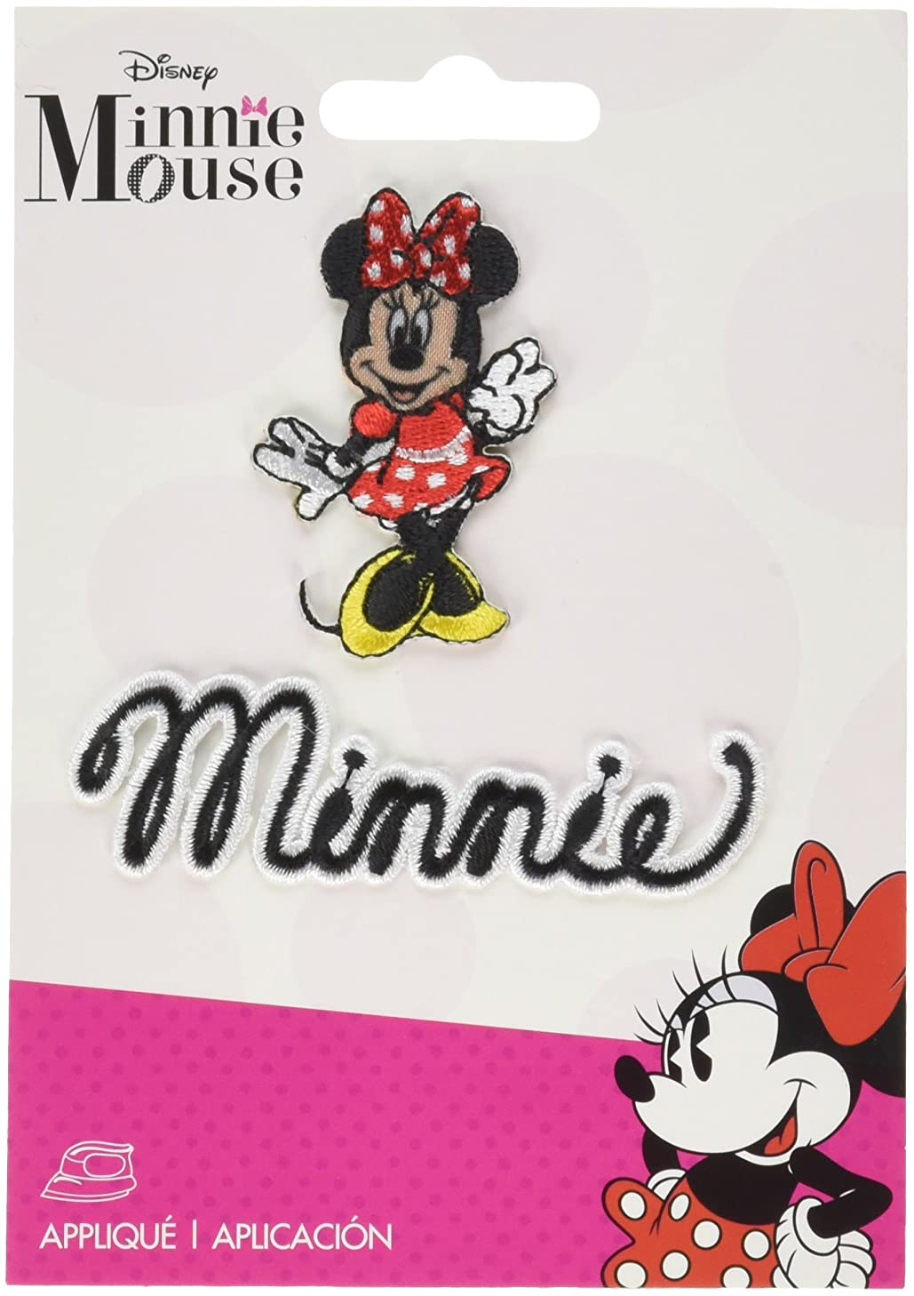 Wrights 19311550001 Disney Mickey Mouse Iron-On Applique-Minnie Mouse Body W/Script