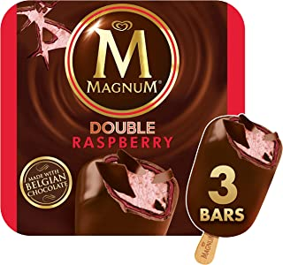 Magnum Ice Cream Bars, Double Raspberry, 3 ct