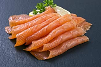 10 X 4Oz. (2.5 Lb.) Most Awarded, Pre-Sliced, Fully Trimmed, Smoked Salmon Nova (All Natural)