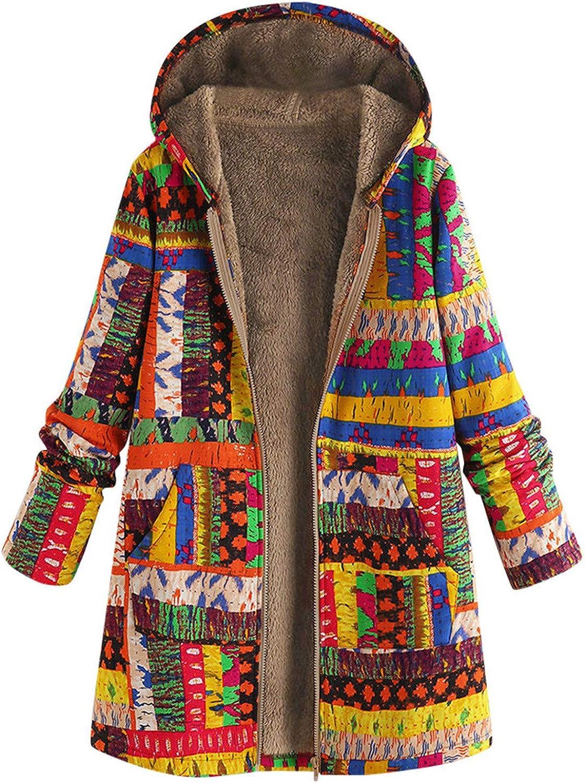Tigivemen Womens Rain Jacket Hooded Fleece-Lined Colorful Print Waterproof Raincoat Trench Coats Windbreaker Overcoat
