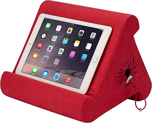 Flippy with New Storage Cubby Multi-Angle Soft Pillow Lap Stand for iPads, Tablets, eReaders, Smartphones, Books, Mag...
