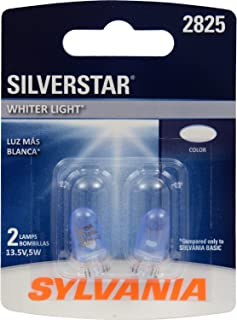 SYLVANIA - 2825 SilverStar Mini Bulb - Brighter and Whiter Light, Ideal for Interior Lighting - Map, Cargo and License Plate (Contains 1 Bulb)
