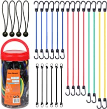 "Cartman Bungee Cords Assortment Jar 24 Piece in Jar - Includes 10"", 18"", 24"", 32"", 40"" Bungee Cord and 8"" Canopy/Tarp Ball..."