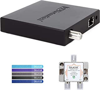 SiliconDust HDHR5-4US HDHomeRun Connect Quatro Tuner (Renewed) Bundle with Blucoil 2-Way TV Coaxial Cable Splitter and 5-Pack of Reusable Cable Ties