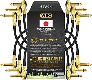 6 unidades – 6 pulgadas – Pedal, efectos, parche, cable de instrumento hecho a medida por WORLDS BEST CABLES – Hecho con a...