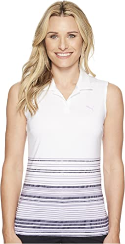 PUMA Golf Sleeveless Road Map Polo