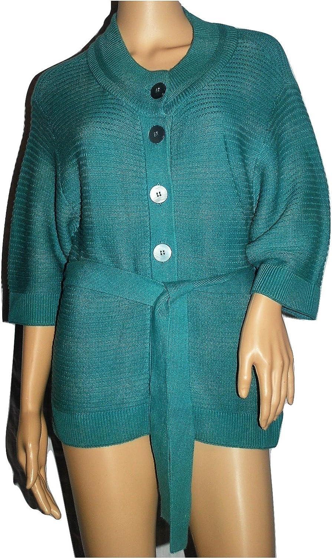 Jones New York Womens Belted Sweater  Sea Mist  Petite Small