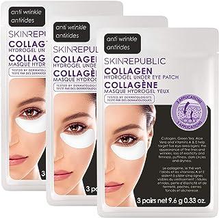 Skin Republic Korean Face Masks - 6 Pairs of Collagen Hydrogel Under Eye Patch - 9 Pairs TOTAL (3 Packs of 3 Pairs) Skin C...