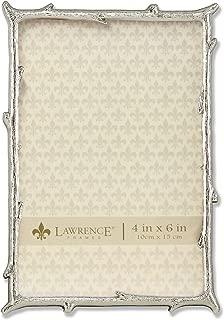 Lawrence Frames 4x6 Silver Metal Natural Branch Design Picture Frame
