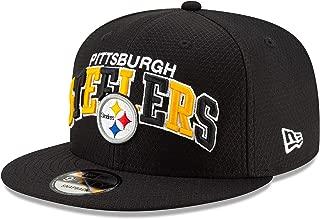 New Era NFL 19 Sideline 9Fifty Pittsburgh Steelers Snapback Hat, Adult, Black, OS