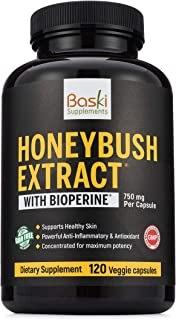 Baski Supplements Natural Honeybush Extract Pill Treatment for Acne, Eczema, Psoriasis, Rosacea Relief - Vitamin Remedy Re...