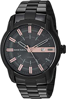 Men's Armbar Analog-Quartz Watch with Stainless-Steel-Plated Strap, Black, 22.6 (Model: DZ1767)