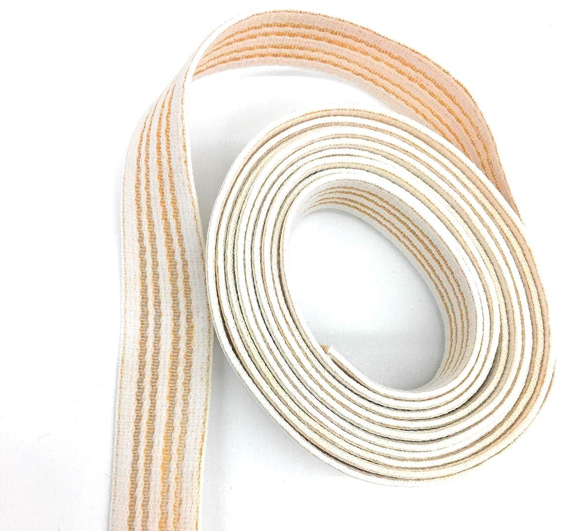 Ban Roll 7/8'' Off White Stretch Knitting Elastic Band Spool with High Elasticity- Waist Band Elastic 6 Yards