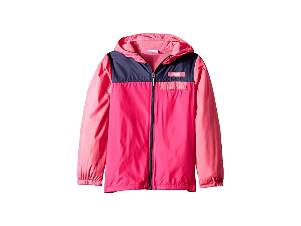 Columbia Kids Mountain Side Lined Windbreaker (Little Kids/Big Kids) (Haute Pink/Wild Geranium/Nocturnal) Girl