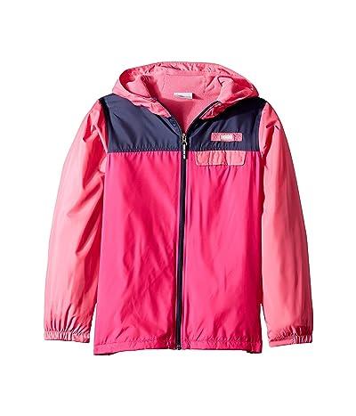 Columbia Kids Mountain Side Lined Windbreaker (Little Kids/Big Kids) (Haute Pink/Wild Geranium/Nocturnal) Girl