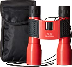 Binoculars for Bird Watching. Compact Binoculars for Adults Small Lightweight Powerful. Red. 12 x 32. Comfortable in Any Size Hand. Binoculars for Women. Hunting, Opera, Sports