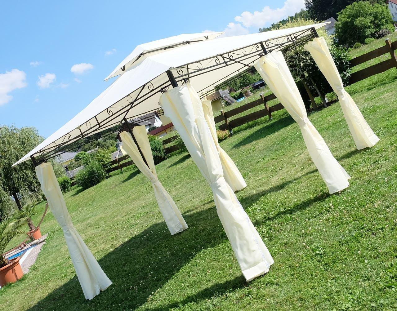 Elegante jardín Carpa Pabellón 3 x 4 metros con 6 de cortinas de 2016 a de as de S: Amazon.es: Jardín