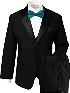 black and teal tuxedo