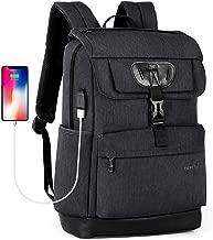 Tigernu College Laptop Backpack School Bookbag with USB Charging Port for Women Men Water Resistant Travel Computer Bag Fits 15.6 inch Laptop/MacBook