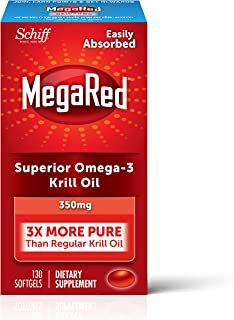 Best MegaRed 350mg Omega-3 Krill Oil - No fishy aftertaste as with Fish Oil 130 ea Review