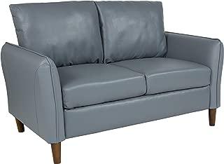 Flash Furniture Milton Park Upholstered Plush Pillow Back Loveseat in Gray Leather