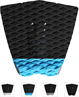 Abahub 3 Piece Surfboard Traction Pads for Skimboards Surf Boards,  Black,  Blue,  Gray,  White