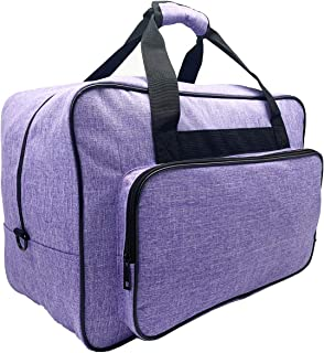 FamYun Sewing Machine Carrying Case,Universal Canvas Carry Tote Bag,Portable Padded Storage Dust Cover with Pockets for Se...