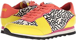 COACH C121 Runner - Keith Haring,Bright Yellow/Bright Orange