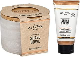 Bourbon Cedar Conditioning Facial Shave Cream & Concrete Shave Bowl 2 Piece Set