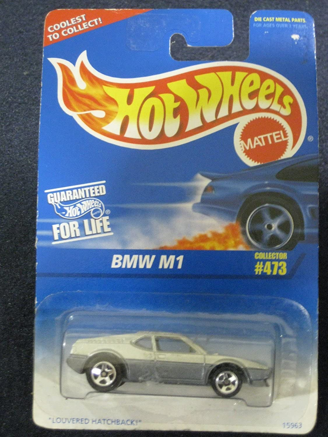 Hot Wheels 1996 BMW M1 Silver Louvered Hatchback Card 473