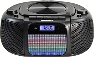 Magnavox MD6972 Portable Top Loading CD Boombox with Digital AM/FM Stereo Radio, Color..