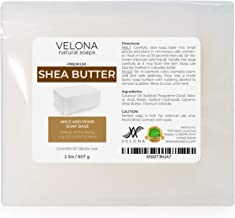 2 LB - Shea Butter - Melt and Pour Soap Base by Velona | SLS/SLES Free | Natural Bars for The Best Result for Soap-Making