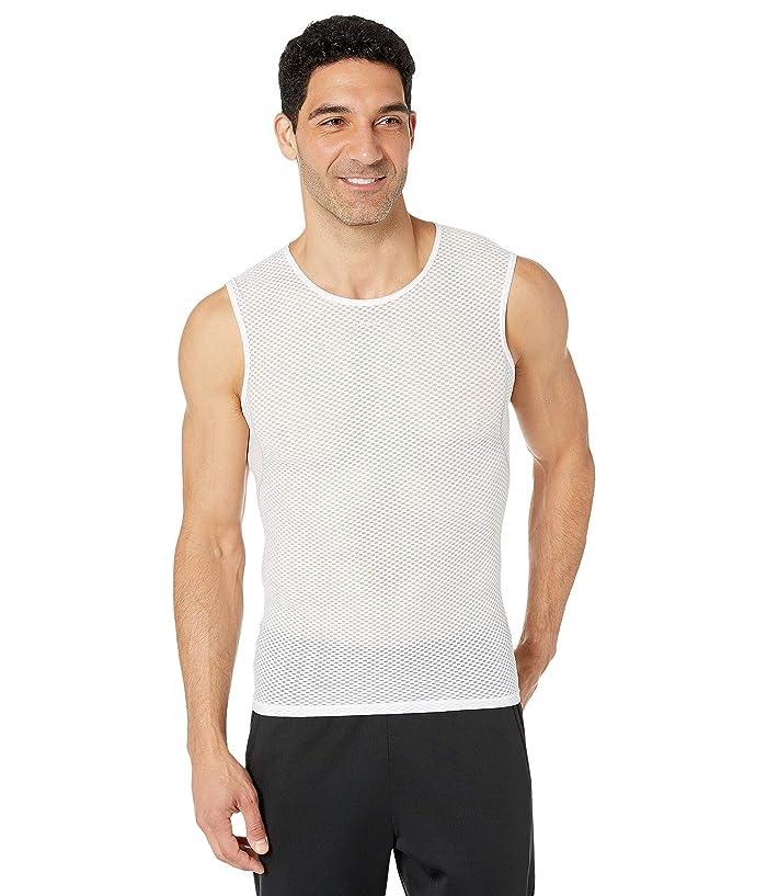 Craft Cool Mesh Super Light Sleeveless Mens Base Layer Top White SM
