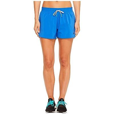 adidas Woven Slit Shorts (Blue/Black) Women