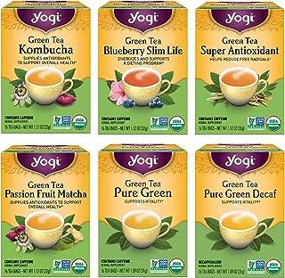 Yogi Tea - Green Tea Variety Pack Sampler (6 Pack) - 96 Tea Bags