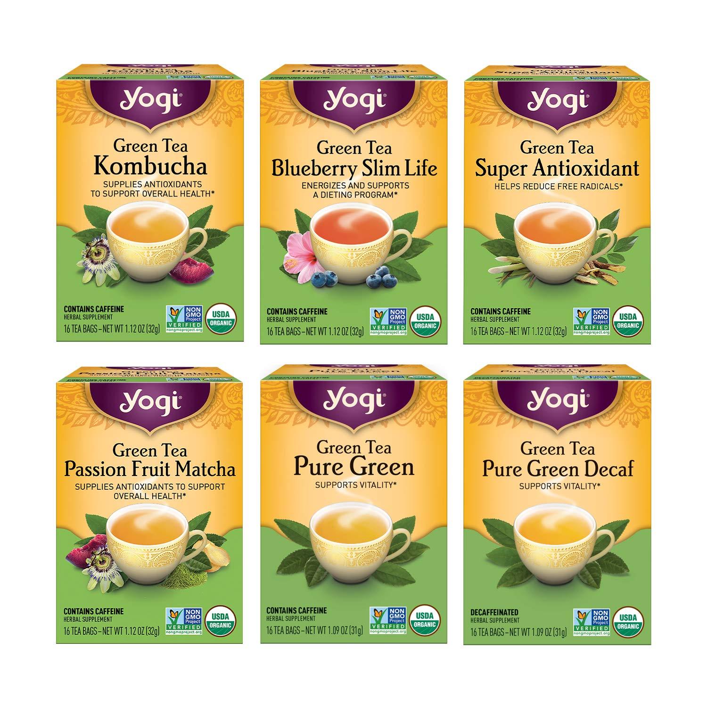Yogi Philadelphia Mall Large special price !! Tea - Green Variety Pack Sampler With 6 Kombuc