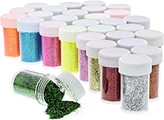 Juvale Glitter Tube Shakers for Crafts, Makeup, Kids Slime (30 Pack), Multicolored